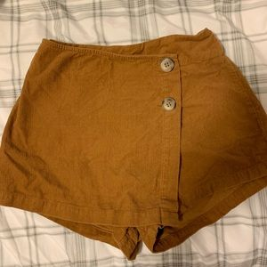 Brown Suede Skort